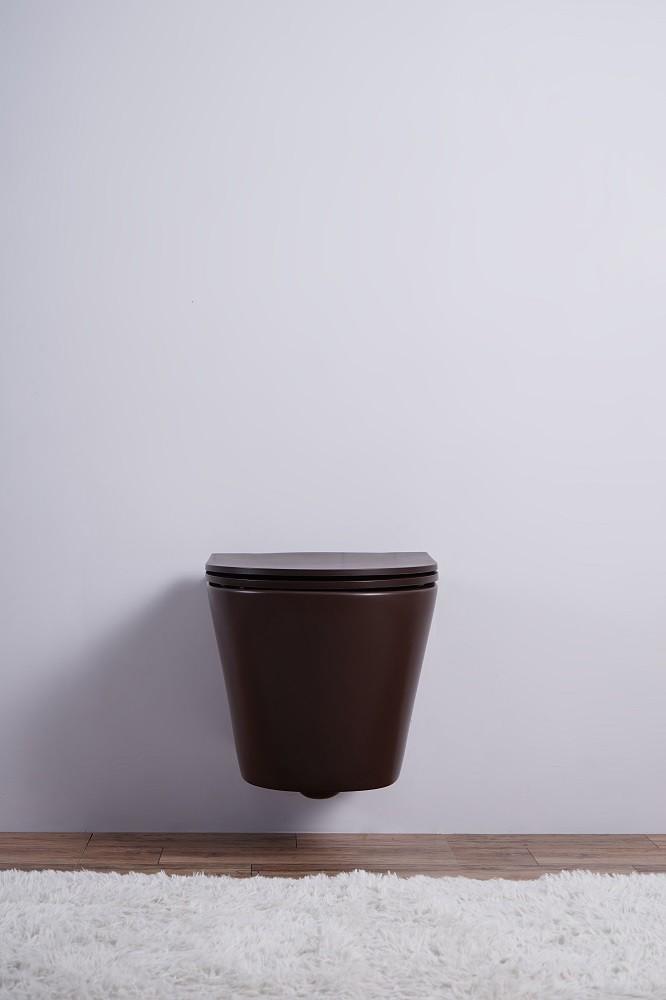Inodoro colgante ESBANO CLAVEL (Mate Cafe)